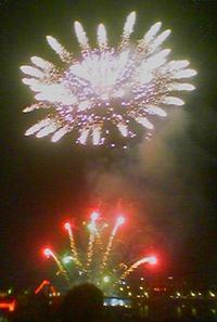 Feuerwerk. Kölner Lichter. Феерверк в Кёльне